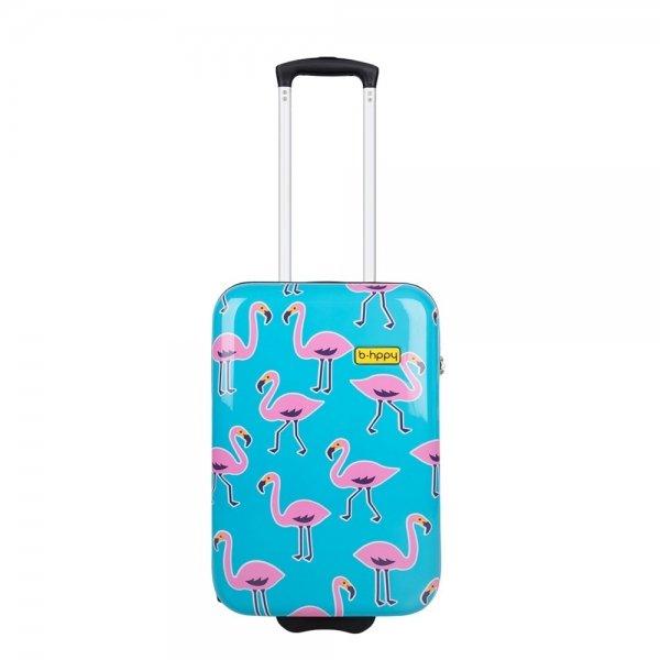 Bhppy Go Flamingo Trolley 55 blue / pink Harde Koffer
