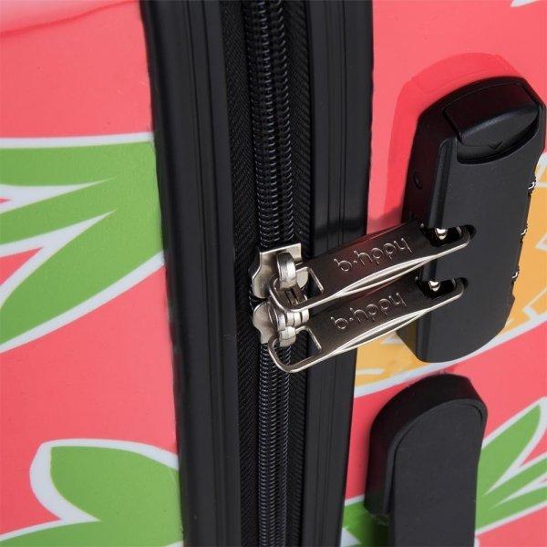 Bhppy Pretty Pineapple Trolley 77 roze Harde Koffer van Polycarbonaat