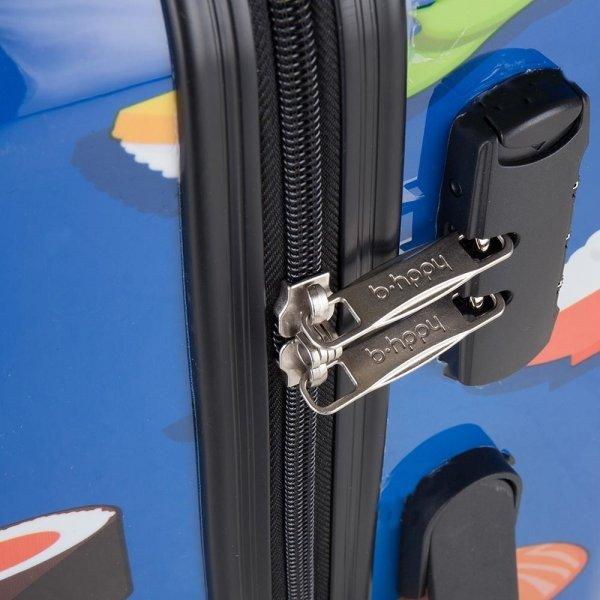 Bhppy Roll'ing Sushi Trolley 77 blue Harde Koffer van Polycarbonaat