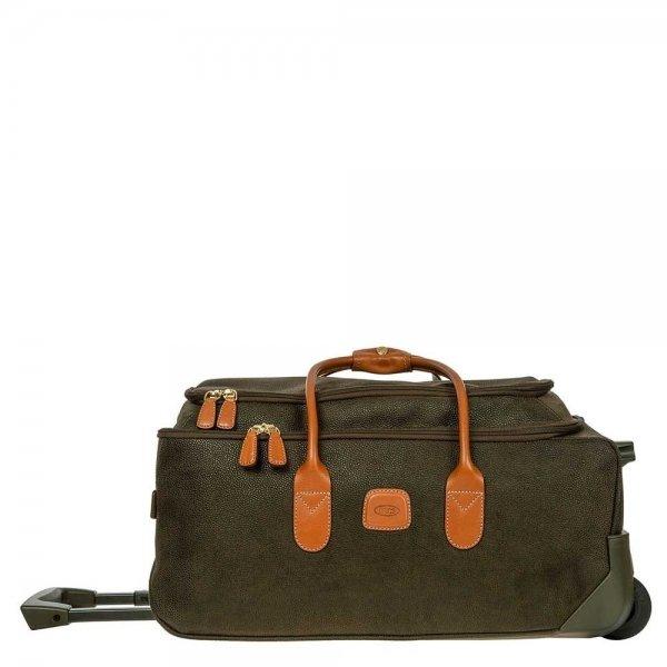 Bric's Life Holdall Reistas met Wielen 55 olive Handbagage koffer Trolley