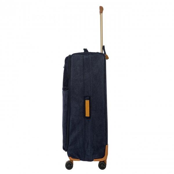 Bric's Life Trolley 77 blue Zachte koffer van Leer