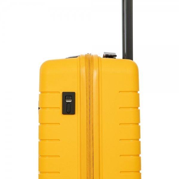 Bric's Ulisse Trolley 55 USB mango Harde Koffer van Polypropyleen