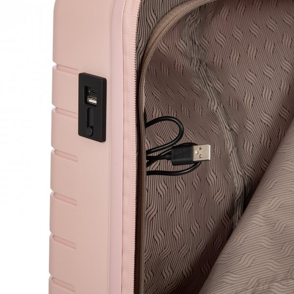 Bric's Ulisse Trolley 55 USB pearl pink Harde Koffer
