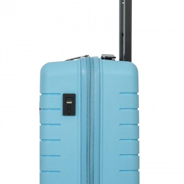 Bric's Ulisse Trolley 55 USB sky blue Harde Koffer van Polypropyleen