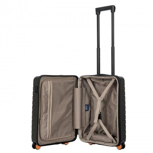Bric's Ulisse Trolley Expandable 55 USB olive Harde Koffer van Polypropyleen