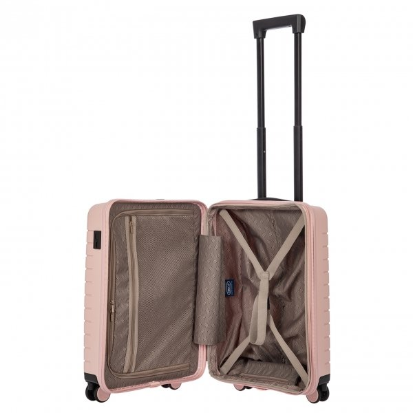 Bric's Ulisse Trolley Expandable 55 USB pearl pink Harde Koffer van Polypropyleen