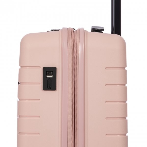 Bric's Ulisse Trolley Expandable 55 USB pearl pink Harde Koffer