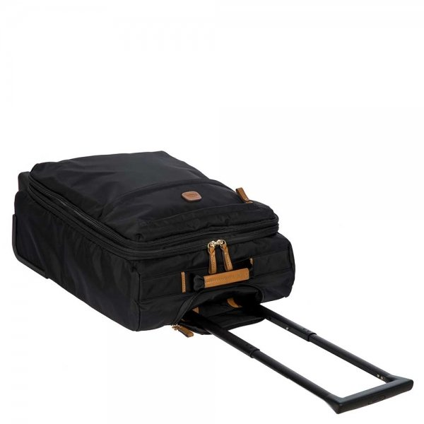 Bric's X-Travel Trolley 55 Expandable black Zachte koffer van Nylon