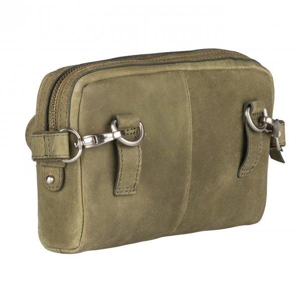 Burkely Croco Cody 5-Way Bag spring green Damestas van Leer