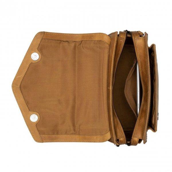 Burkely Croco Cody Citybag ochre yellow Damestas van Leer