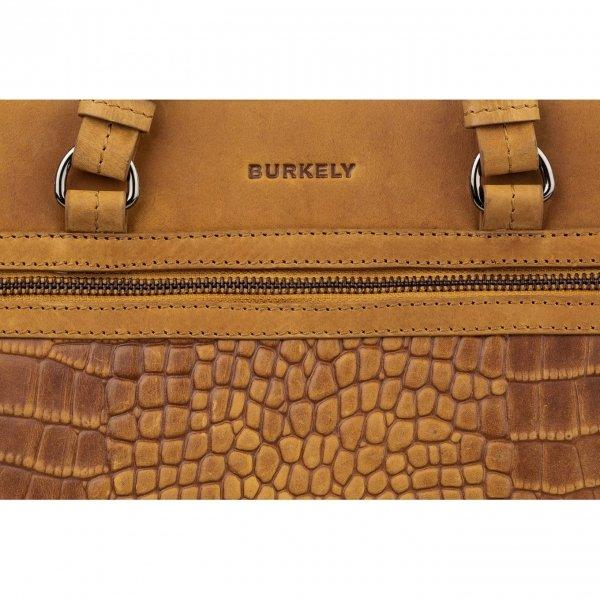 Burkely Croco Cody Citybag ochre yellow Damestas