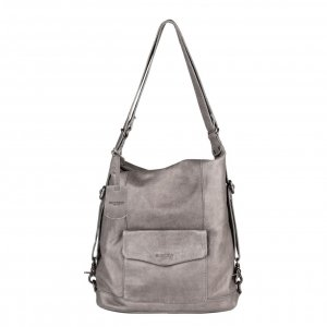 Burkely Just Jackie Backpack hobo grey backpack
