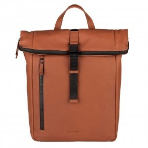 """Burkely Rain Riley Backpack Rolltop 14"""" corroded cognac"""
