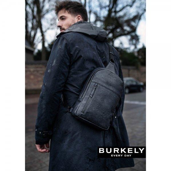 """Burkely Rain Riley Bodypack 9.7"""" black backpack van Leer"""