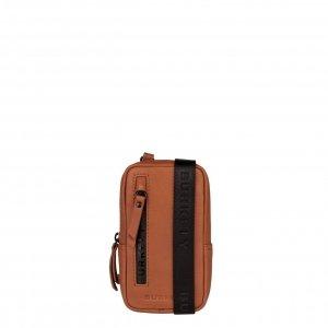Burkely Rain Riley Phone Bag corroded cognac Leren tas