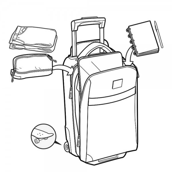 Handbagage trolleys van Burton