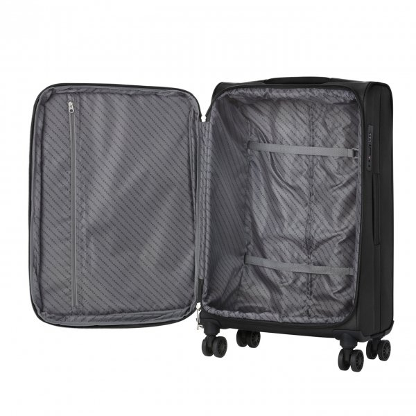 CarryOn Air Koffer 55 black Zachte koffer van Polyester