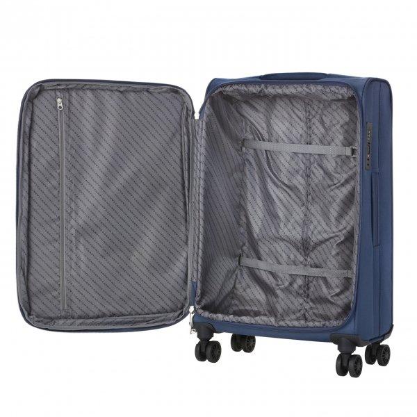 CarryOn Air Koffer 77 steel blue Zachte koffer van Polyester