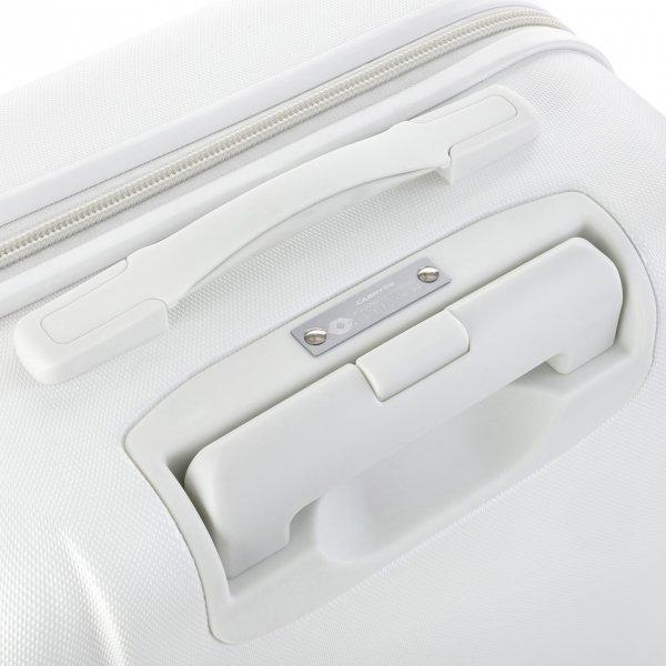 CarryOn Skyhopper 4 Wiel Trolley 55 white Harde Koffer van Polycarbonaat