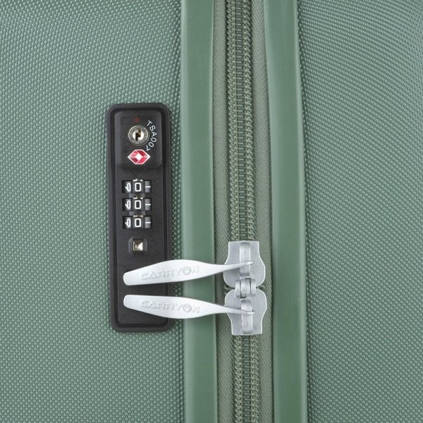 CarryOn Skyhopper 4 Wiel Trolley 68 olive Harde Koffer van Polycarbonaat