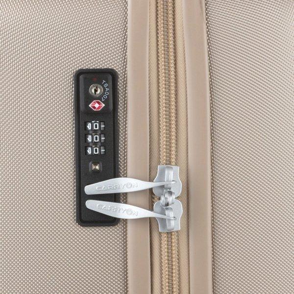 CarryOn Skyhopper 4 Wiel Trolley 78 champagne Harde Koffer van Polycarbonaat