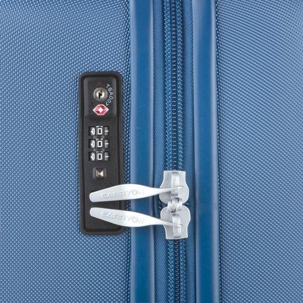 CarryOn Skyhopper Trolleyset 3pcs TSA cool blue van Polycarbonaat