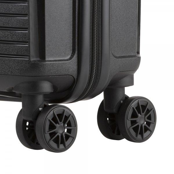 CarryOn Transport 4 Wiel Trolley 55 black Harde Koffer