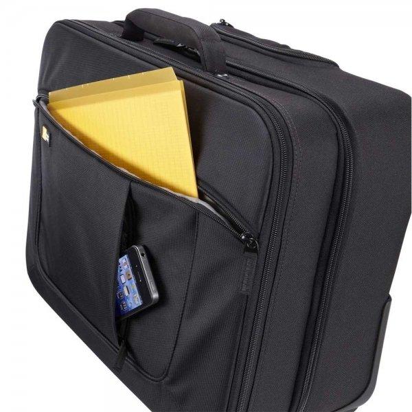 """Case Logic ANR Line Rolling Laptop Case 17.3"""" black Handbagage koffer Trolley van Polyester"""