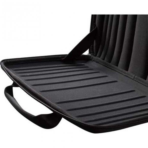 "Case Logic QNS Line 16"" Hard Shell Laptop Case black Laptopsleeve van Nylon"