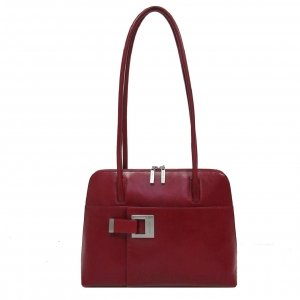 Claudio Ferrici Classico Shoulderbag red V Damestas
