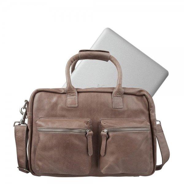 "Cowboysbag The College Bag Laptoptas 15.6"" elephant grey van Leer"