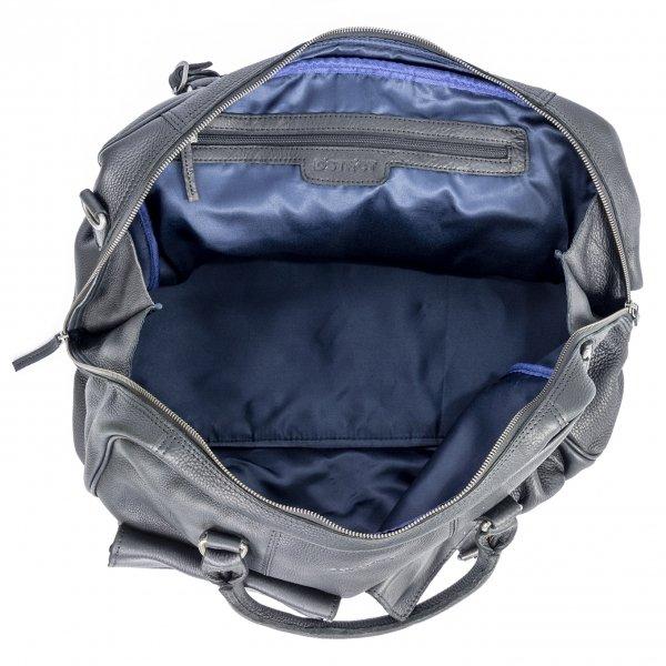 DSTRCT Raider Road Travelbag + black II van Leer