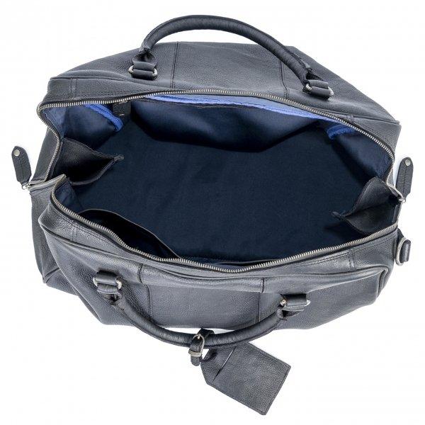DSTRCT Raider Road Travelbag black van Leer