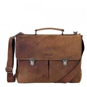 "DSTRCT Wall Street Workingbag 15"" brown2"
