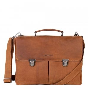 "DSTRCT Wall Street Workingbag 15"" cognac2"