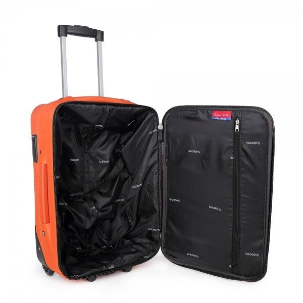 Decent Basic Line Trolley 54 oranje Zachte koffer van Polyester