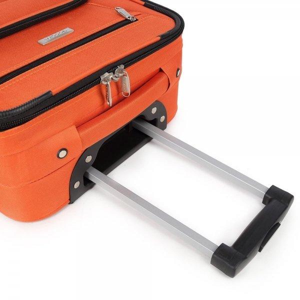 Decent Basic Line Trolley 54 oranje Zachte koffer