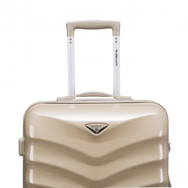 Decent Exclusivo-One Trolley 67 champagne Harde Koffer van Polycarbonaat
