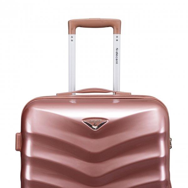 Decent Exclusivo-One Trolley 67 rose Harde Koffer van Polycarbonaat
