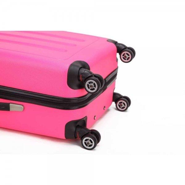 Decent Neon-Fix 3-delige Kofferset pink van ABS