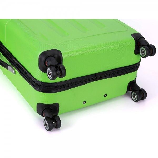 Decent Neon-Fix Trolley 66 appelgroen Harde Koffer