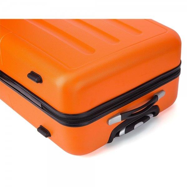 Decent Neon-Fix Trolley 66 oranje Harde Koffer van ABS