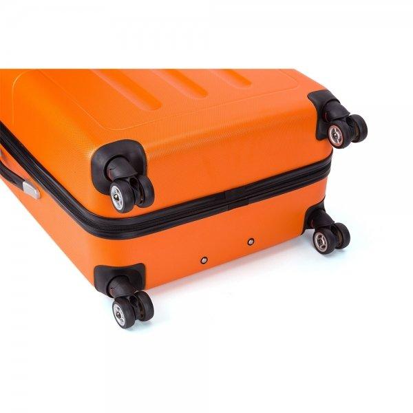 Decent Neon-Fix Trolley 66 oranje Harde Koffer