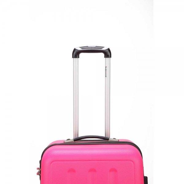 Decent Neon-Fix Trolley 76 pink Harde Koffer van ABS