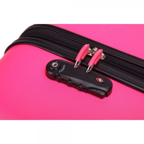 Decent Neon-Fix Trolley 76 pink Harde Koffer