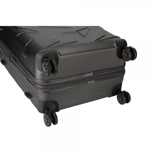 Decent Q-Luxx Trolley 77 antraciet Harde Koffer van ABS