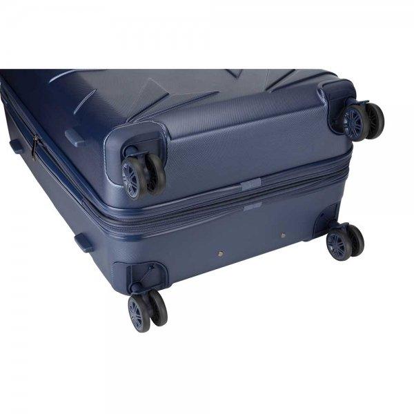 Decent Q-Luxx Trolley 77 deep blue Harde Koffer van ABS