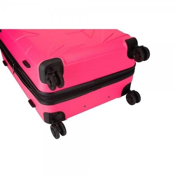 Decent Q-Luxx Trolley 77 pink Harde Koffer van ABS