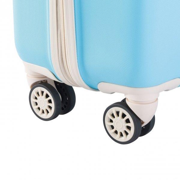 Decent Star-Maxx Trolley 55 pastel blue Harde Koffer van ABS