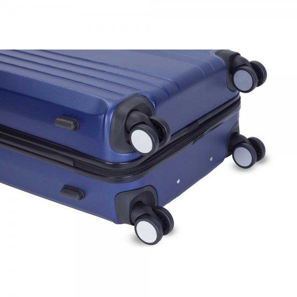 Decent Tobi Line Trolley 82 d.blauw Harde Koffer van ABS